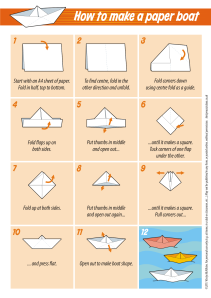4 Paper boat instructions