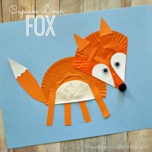 Cupcake Liner Fox Sq